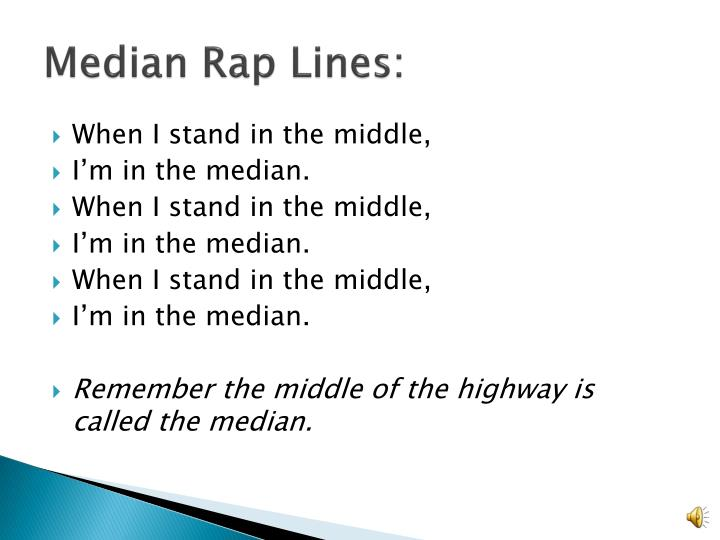 Median Rap Lines: