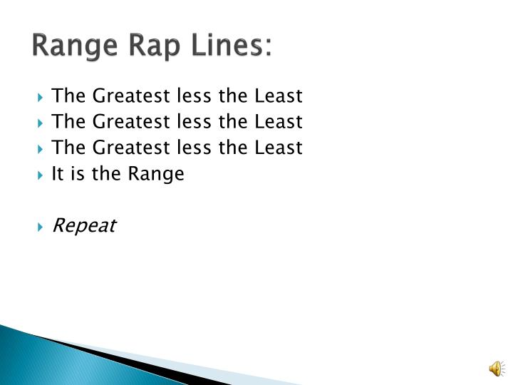 Range Rap Lines: