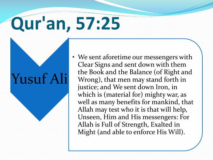 Qur'an, 57:25