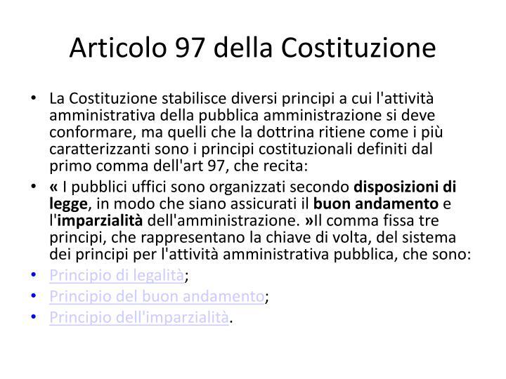 Articolo 97 della Costituzione