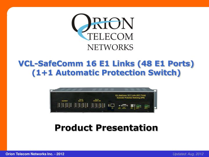 VCL-SafeComm 16 E1 Links (48 E1 Ports)