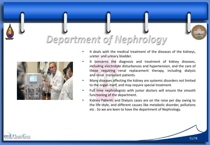 Department of Nephrology