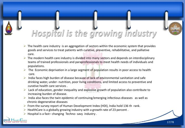Hospital is the growing industry