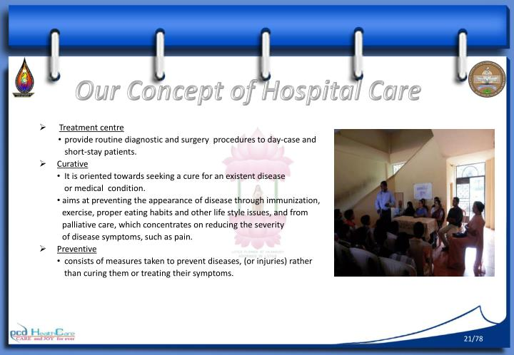 Our Concept of Hospital Care