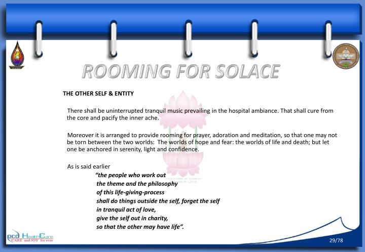 ROOMING FOR SOLACE