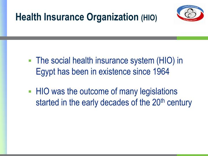 Health insurance organization hio