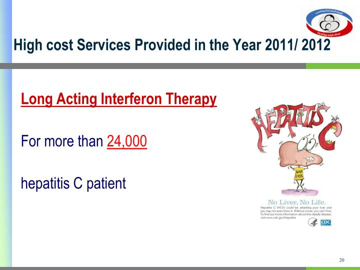 High cost Services Provided in the Year 2011/ 2012