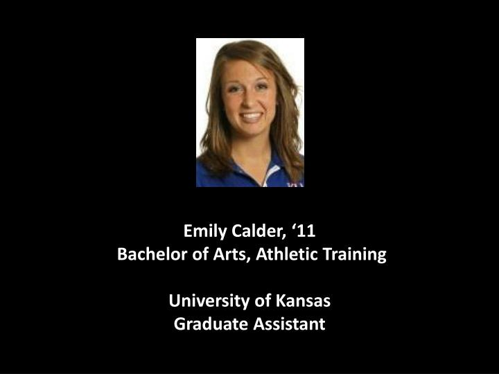 Emily Calder, '11