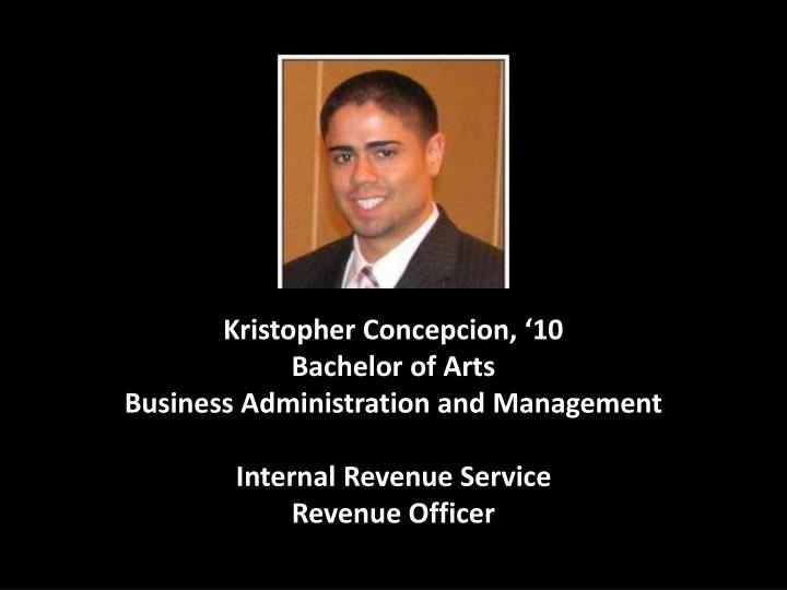 Kristopher Concepcion, '10
