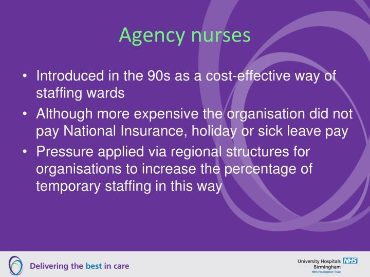 Agency nurses
