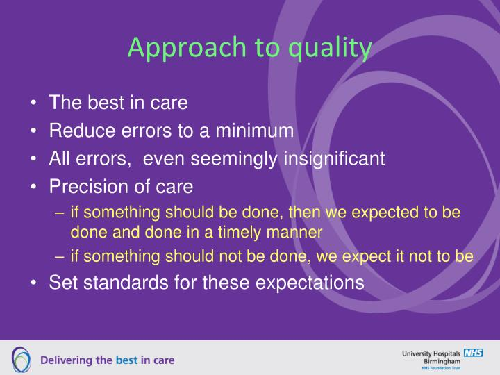 Approach to quality