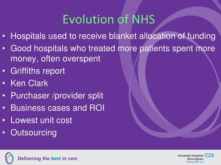 Evolution of NHS