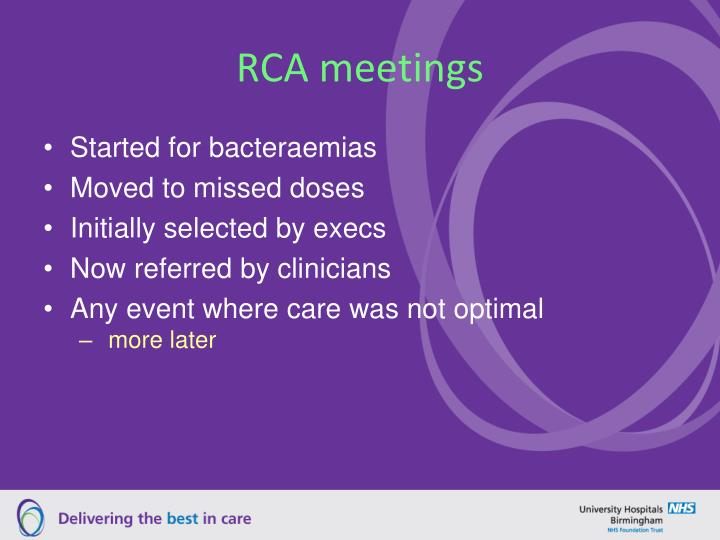 RCA meetings
