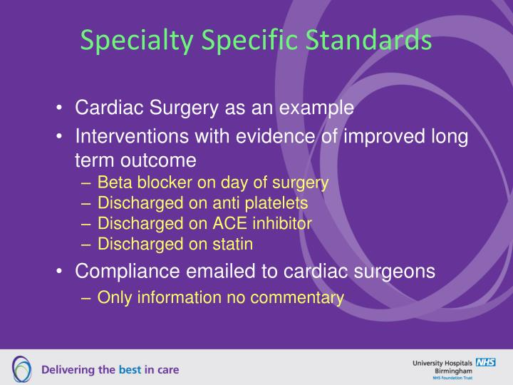 Specialty Specific Standards