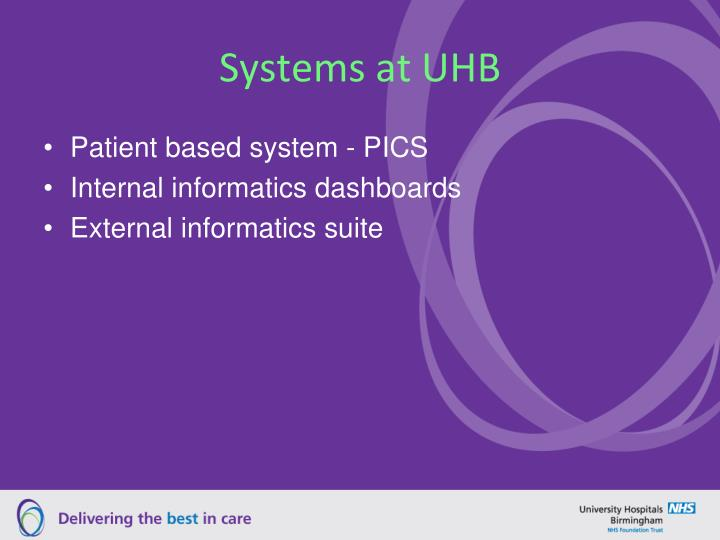 Systems at UHB