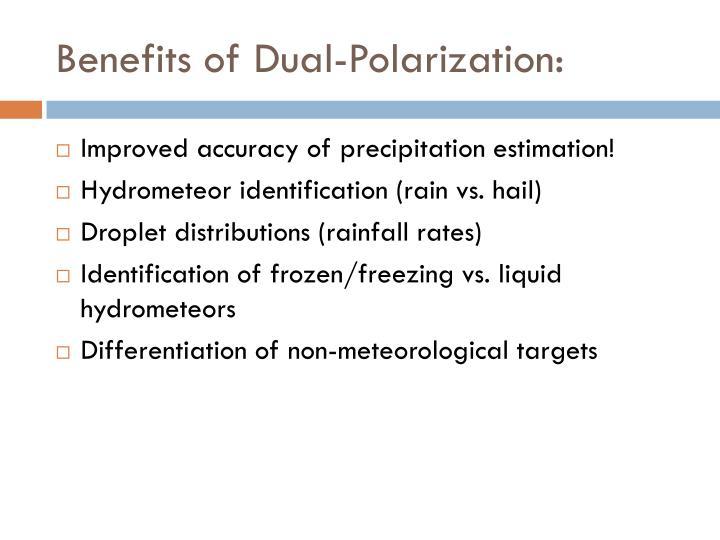 Benefits of Dual-Polarization: