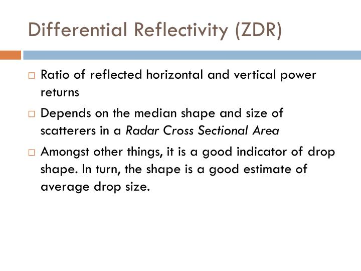 Differential Reflectivity (ZDR)
