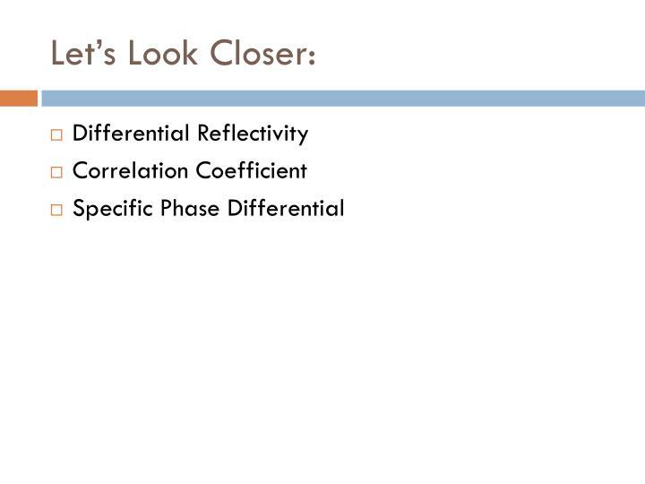 Let's Look Closer: