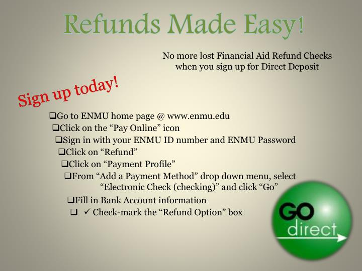 Refunds Made Easy!