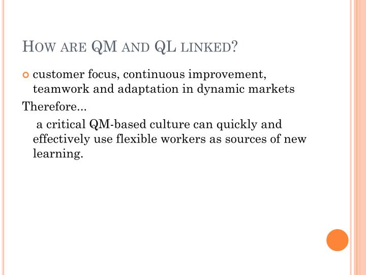 How are QM and QL linked?