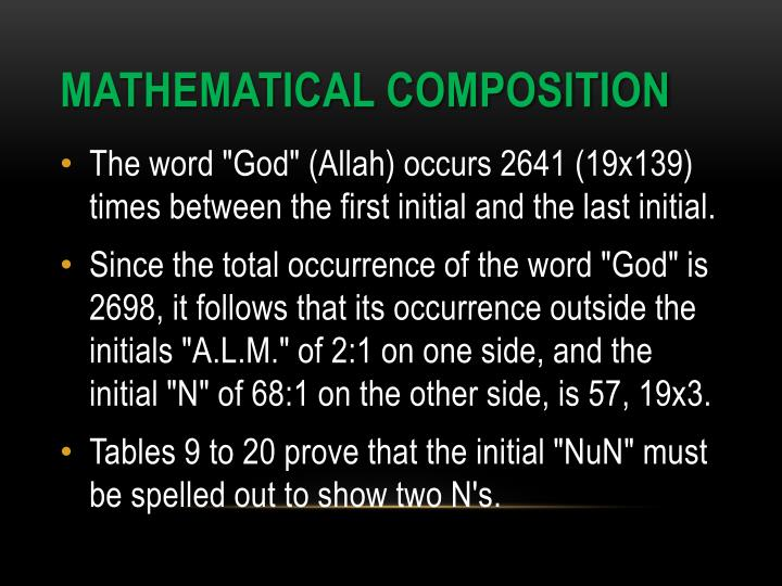 MATHEMATICAL COMPOSITION