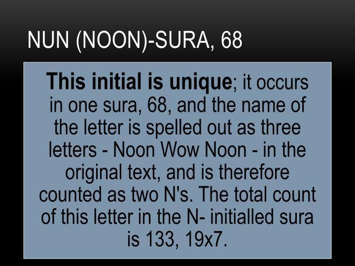 NuN (Noon)-sura, 68