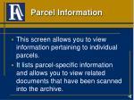parcel information