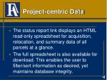 project centric data
