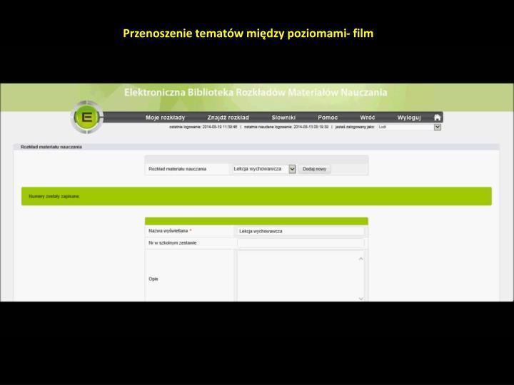 Przenoszenie tematów między poziomami- film