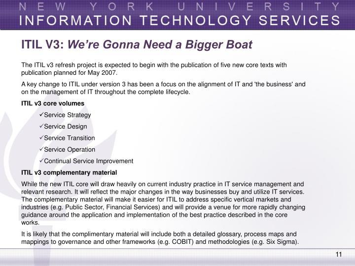 ITIL V3: