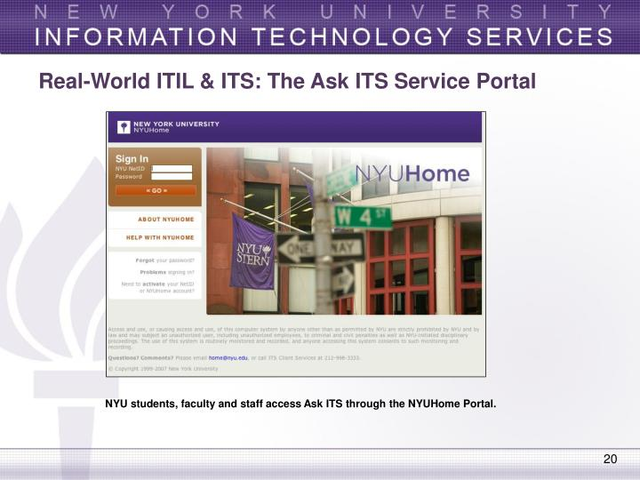Real-World ITIL & ITS: The Ask ITS Service Portal