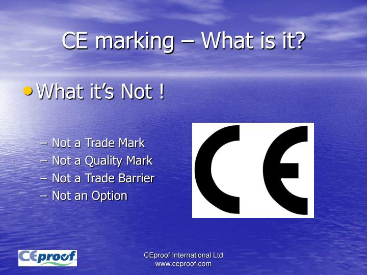 CE marking – What is it?