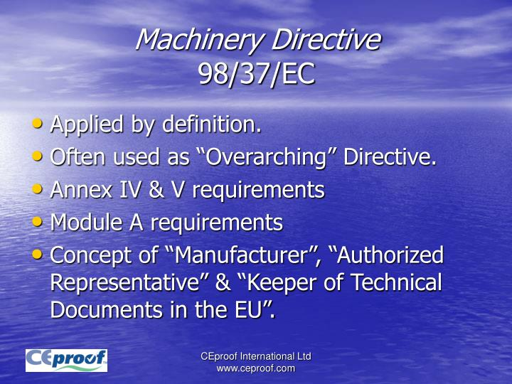 Machinery Directive