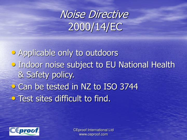 Noise Directive