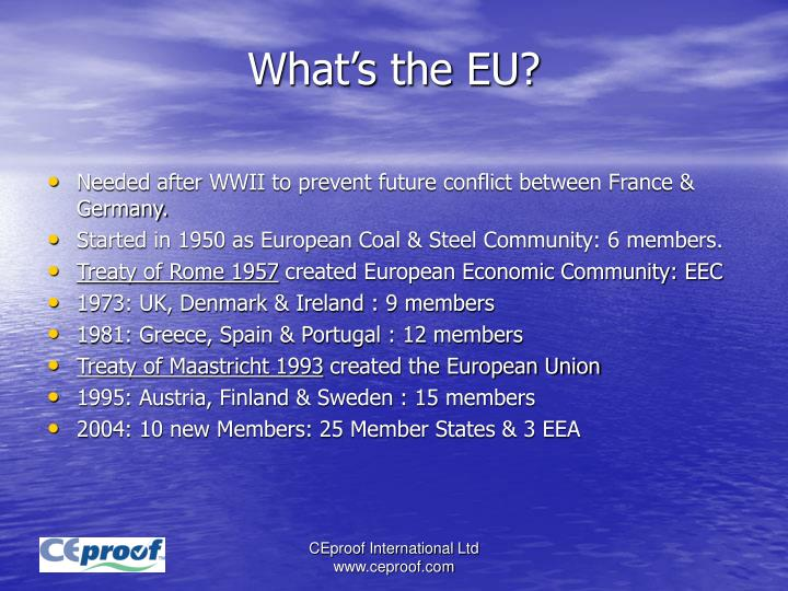 What's the EU?