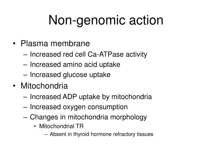 Non-genomic action