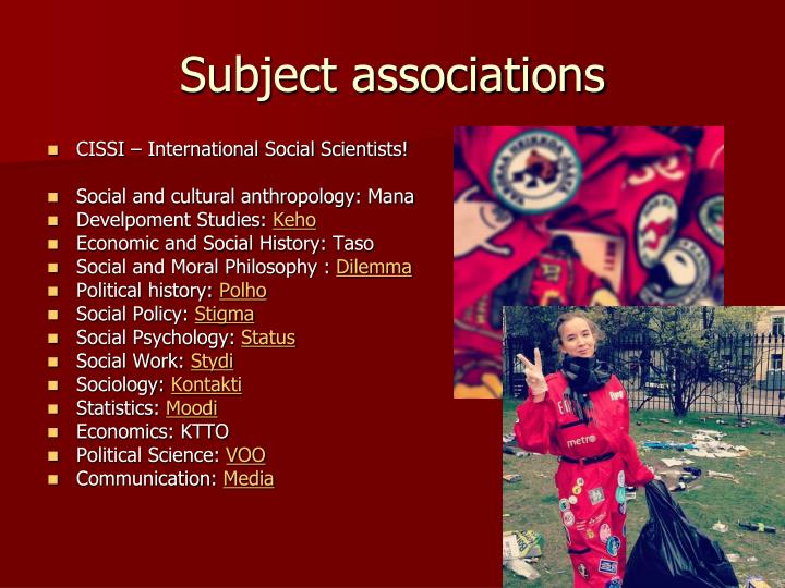Subject associations