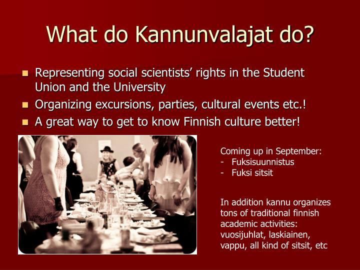 What do Kannunvalajat do?