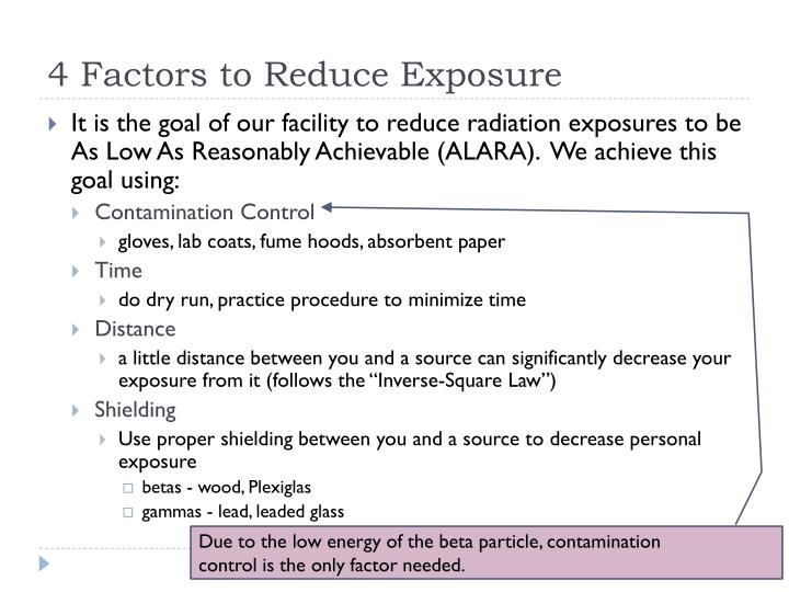 4 Factors to Reduce Exposure