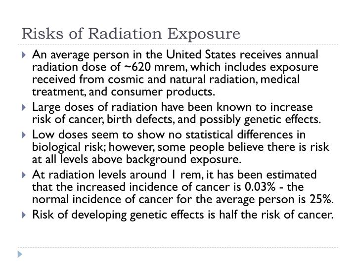 Risks of Radiation Exposure