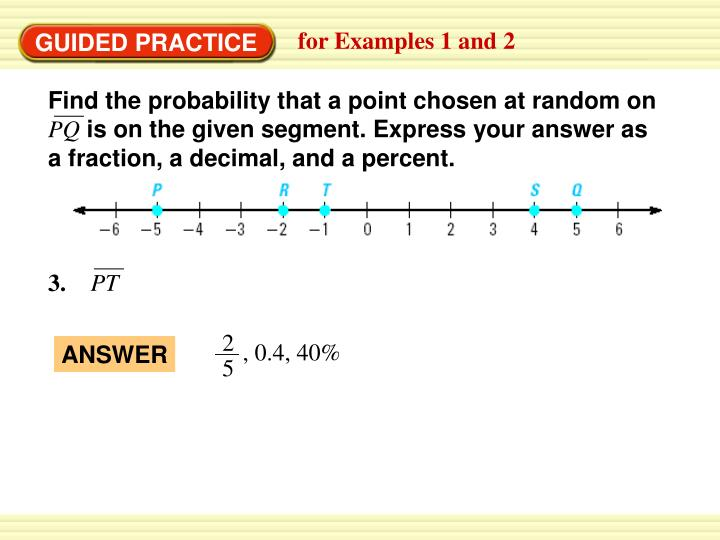 Find the probability that a point chosen at random on