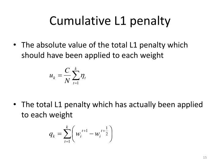 Cumulative L1 penalty