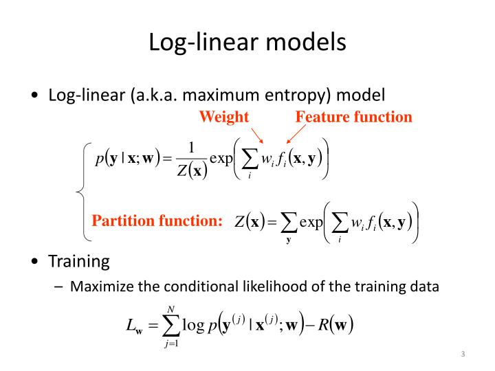 Log-linear models