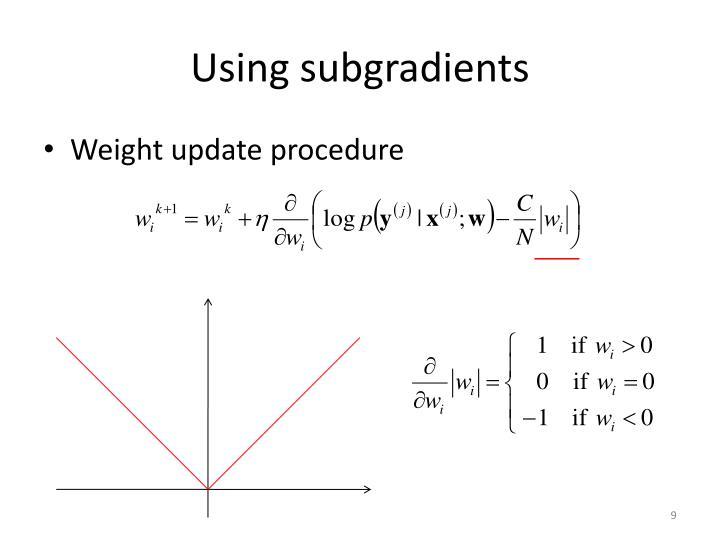 Using subgradients