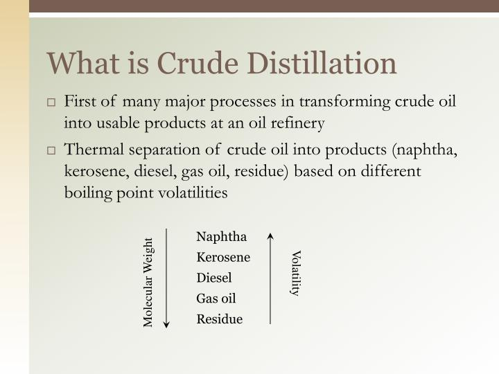 What is Crude Distillation