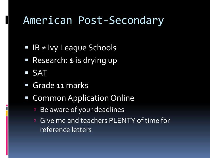 American Post-Secondary