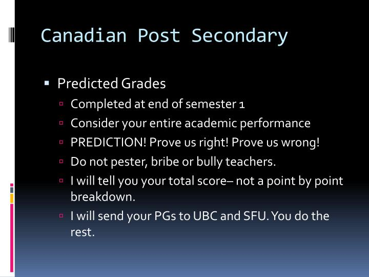 Canadian Post Secondary