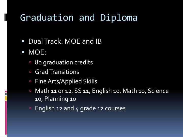 Graduation and Diploma