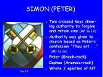 1 simon peter