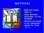 12 matthias